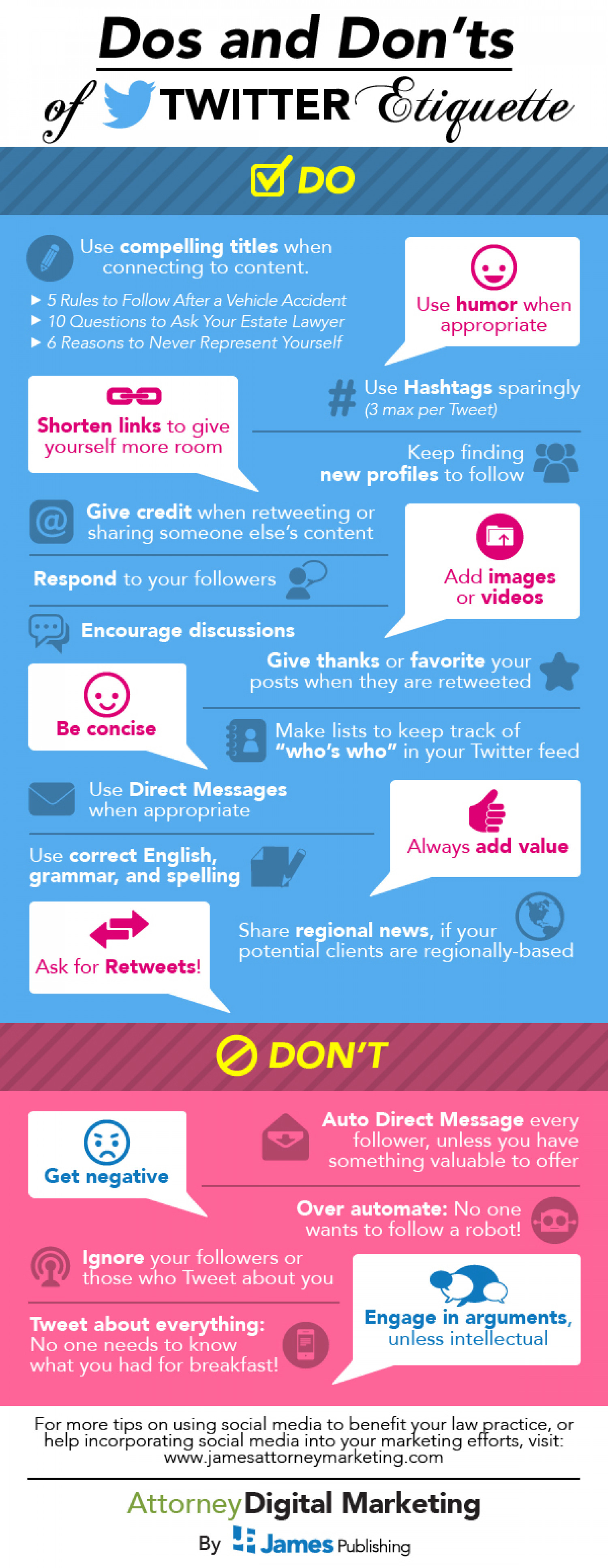 Dos and Don'ts of Twitter Etiquette Infographic