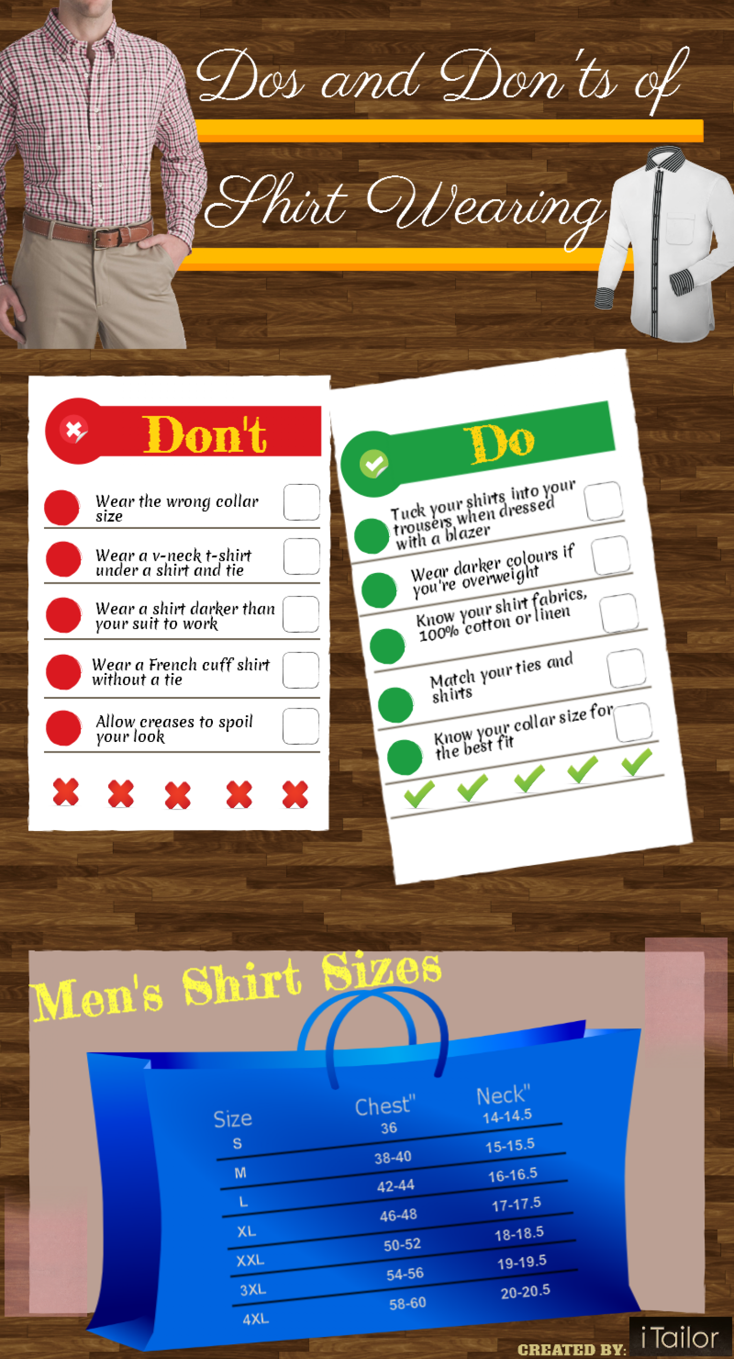 Dos and Don'ts of wearing a shirt Infographic