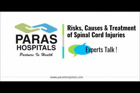 Dr. (Prof.) Sumit Sinha, Paras Hospitals - Know Risks, Causes & Treatment for Spinal Cord Injuries Infographic