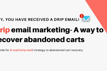 Drip Email Marketing - A Way to Recover Abandoned Carts Infographic
