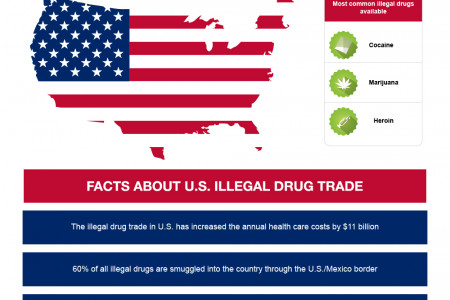 Drug addiction in U.S. Infographic