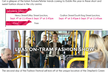 Dublin Fashion Festival Sept 4th Infographic Infographic