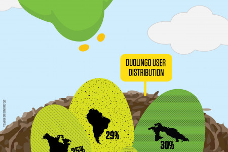 Duolingo User Distribution Infographic