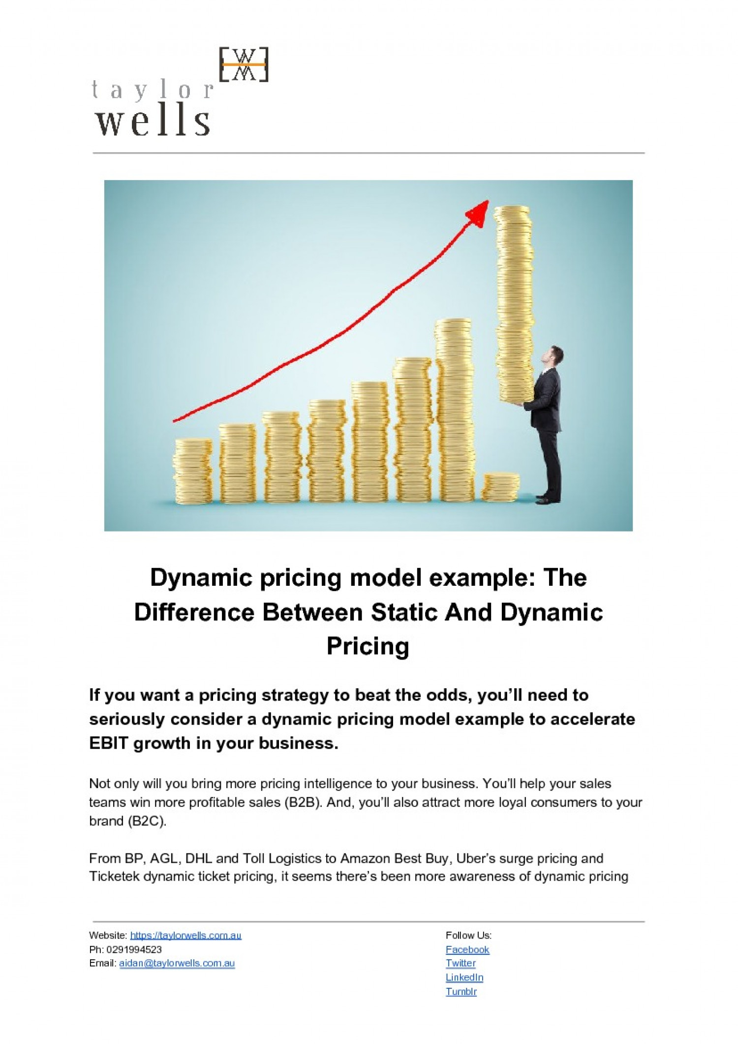 Dynamic Pricing Model Infographic