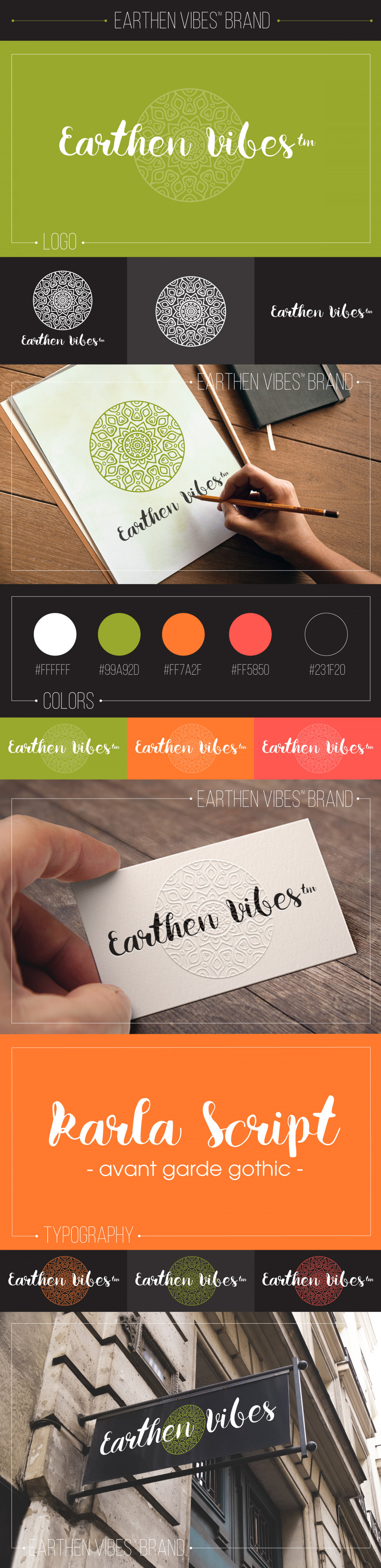Earthen Vibes Brand by Maxwell Alexander Infographic