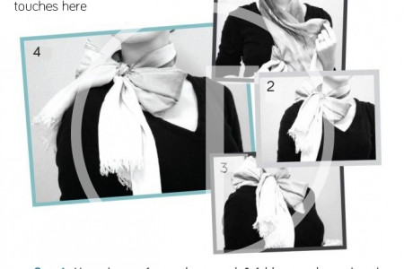 Easiest Bow – Tie Tutorial using a Scarf! Infographic