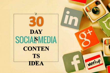 Easy 30 Days Social Media Content Plan Infographic