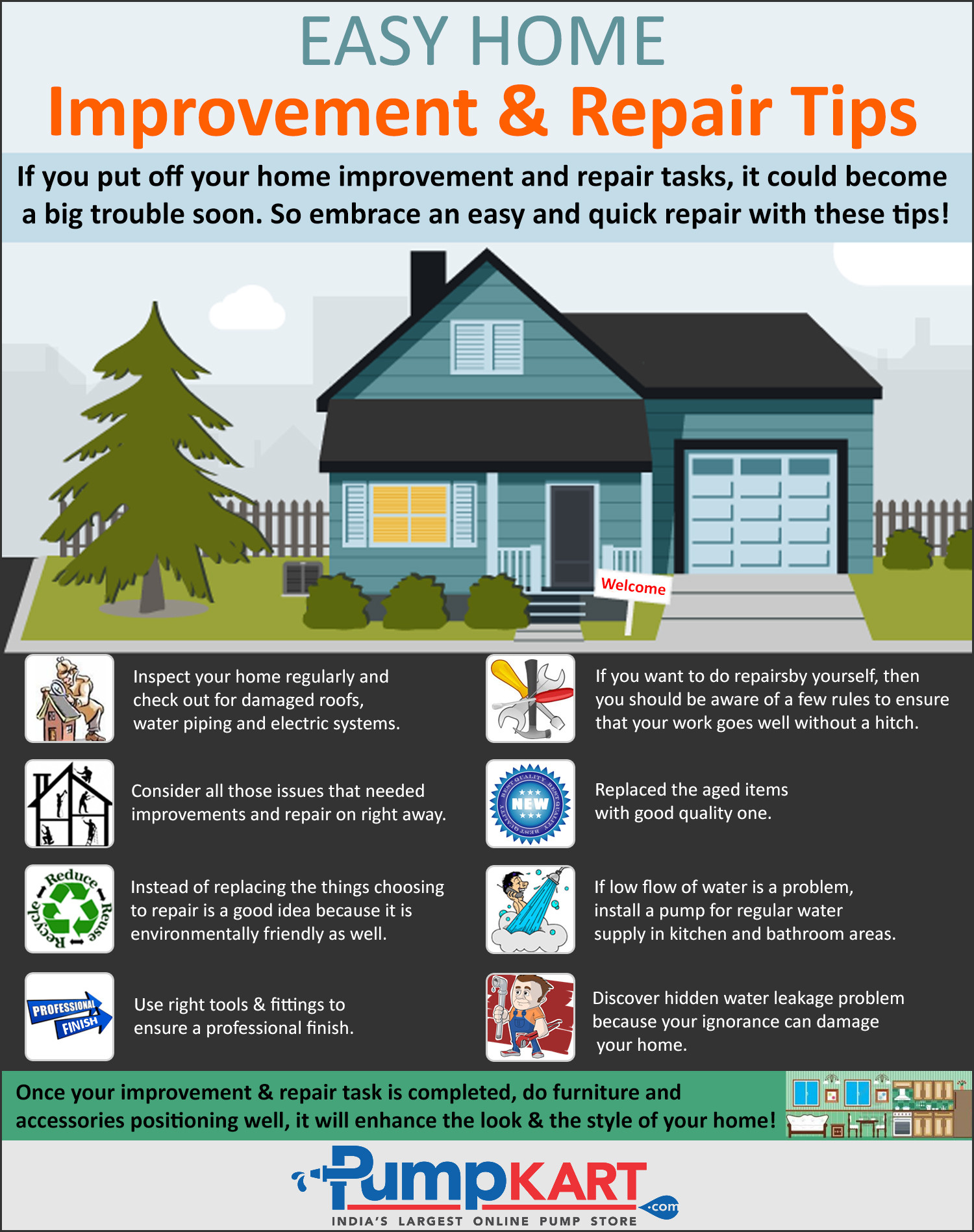 easy home improvements and repair tips