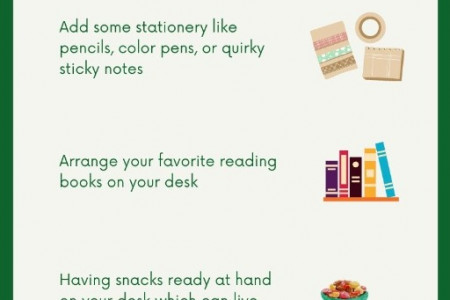 Easy Tips on How to Decorate your Office Desk Infographic