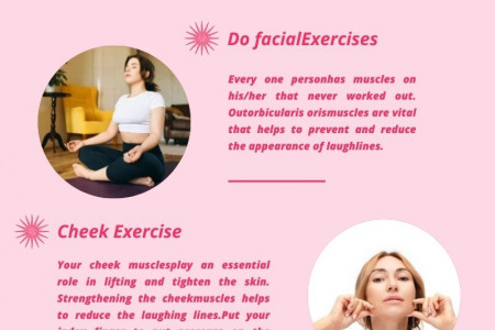 Easy Way to Get Rid of Laugh Line - Face Yoga Infographic