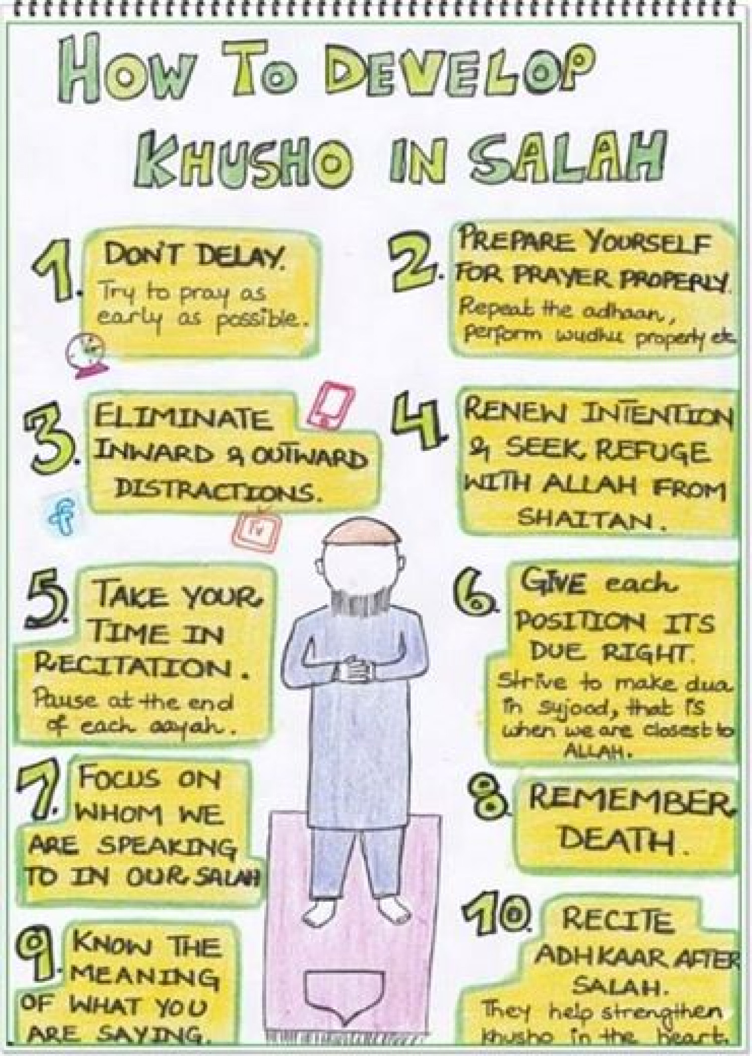 How To Develop Khusho In Salah Infographic
