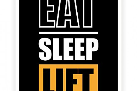 Eat Sleep Lift Gym Motivating Quotes Poster Infographic