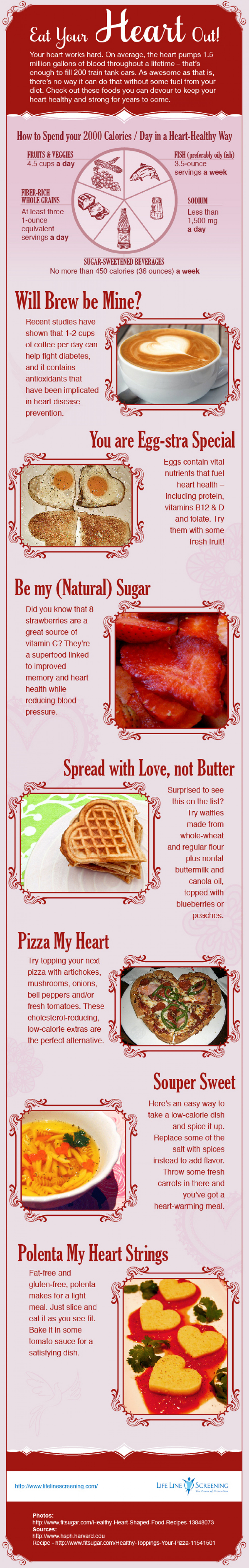 Eat Your Heart Out! Heart-Healthy Eating Tips to Help Lower Your Risk for Heart Disease Infographic