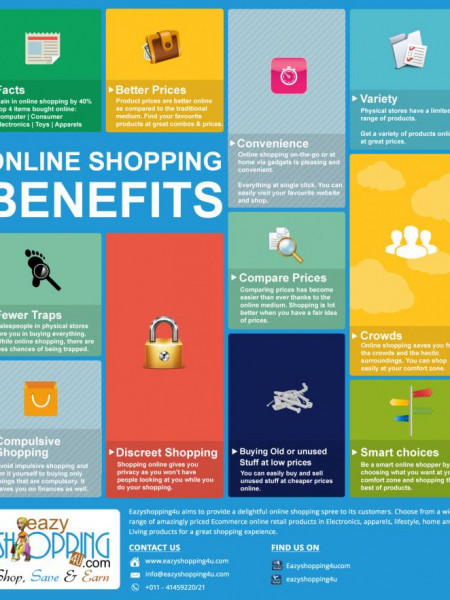 Online Shopping Benefits Infographic