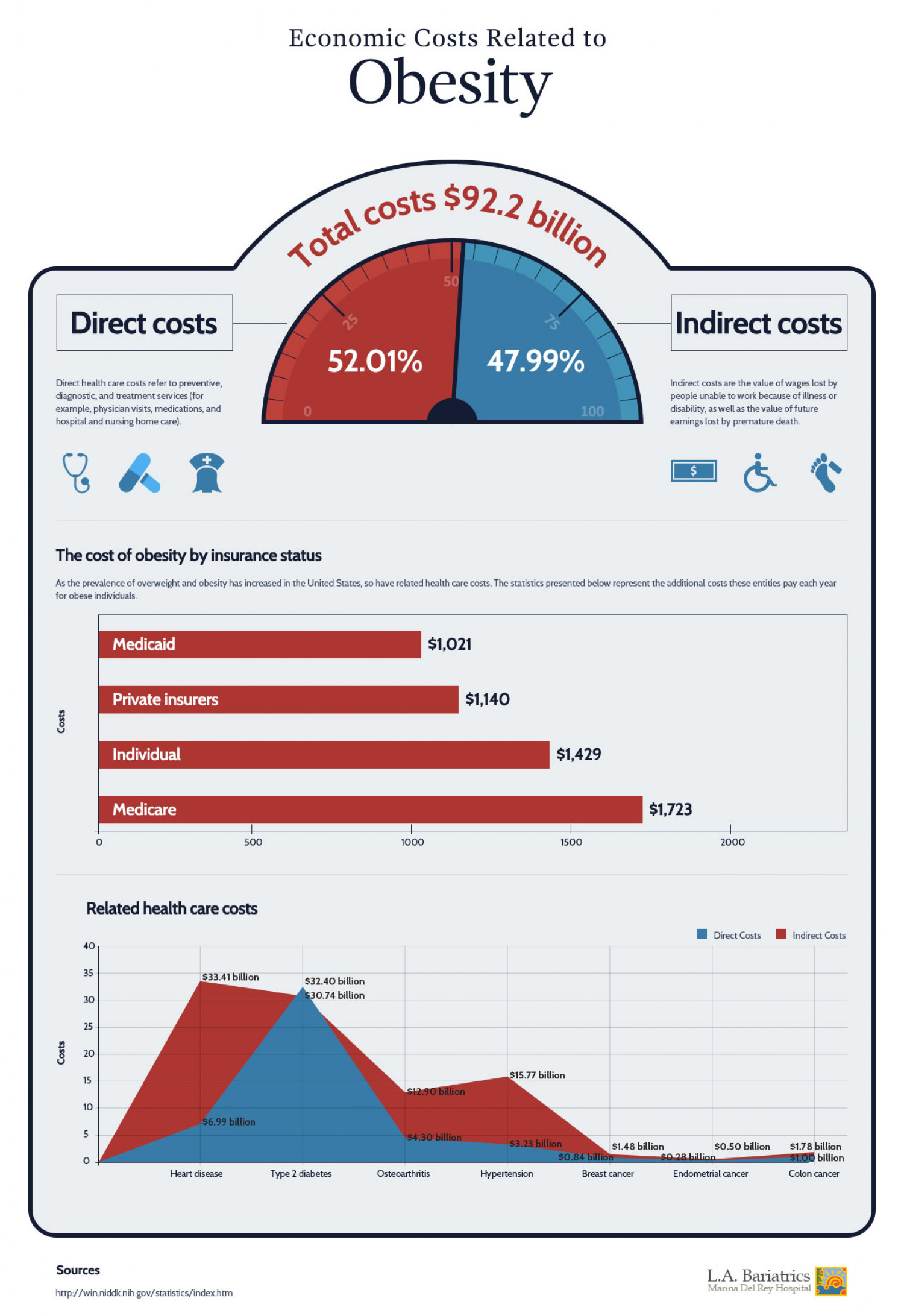 Economic costs of Obesity Infographic