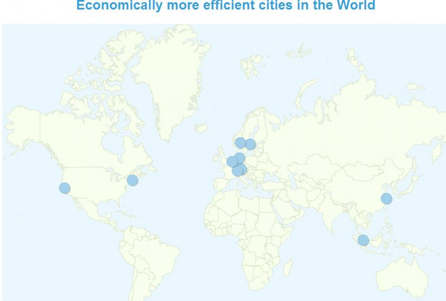 Economically more efficient cities in the World Infographic