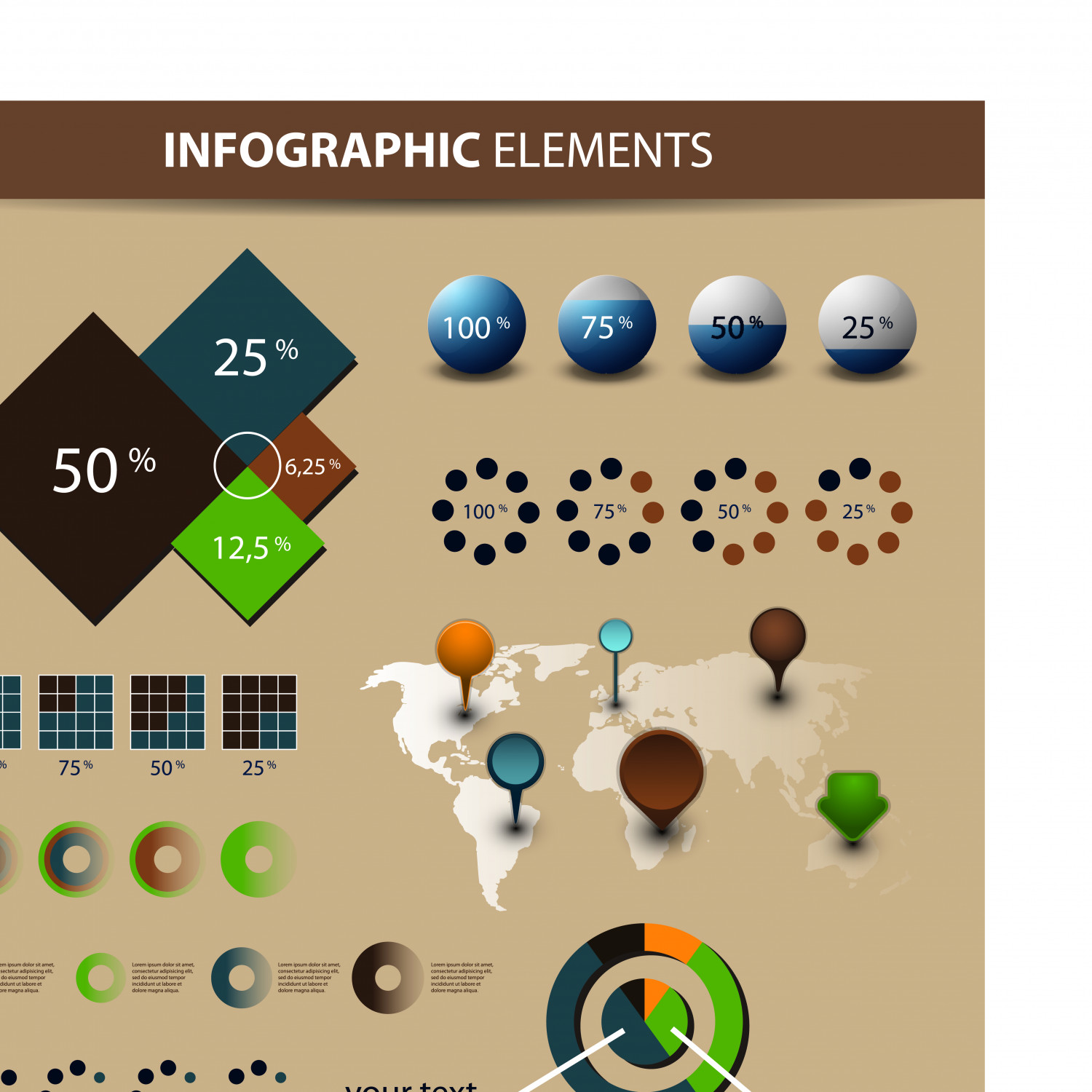 Economy Infographics and chart design elements vector Infographic