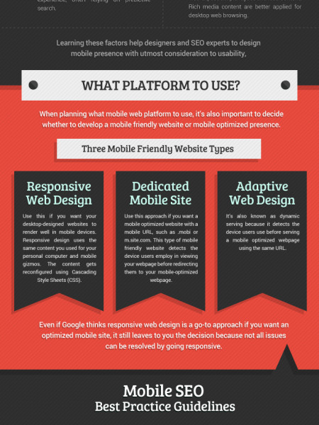 Best Practices for Mobile SEO Infographic