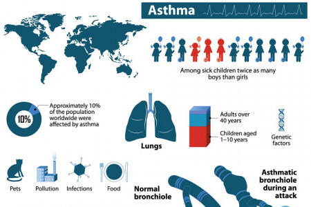 Effects of Asthma Infographic