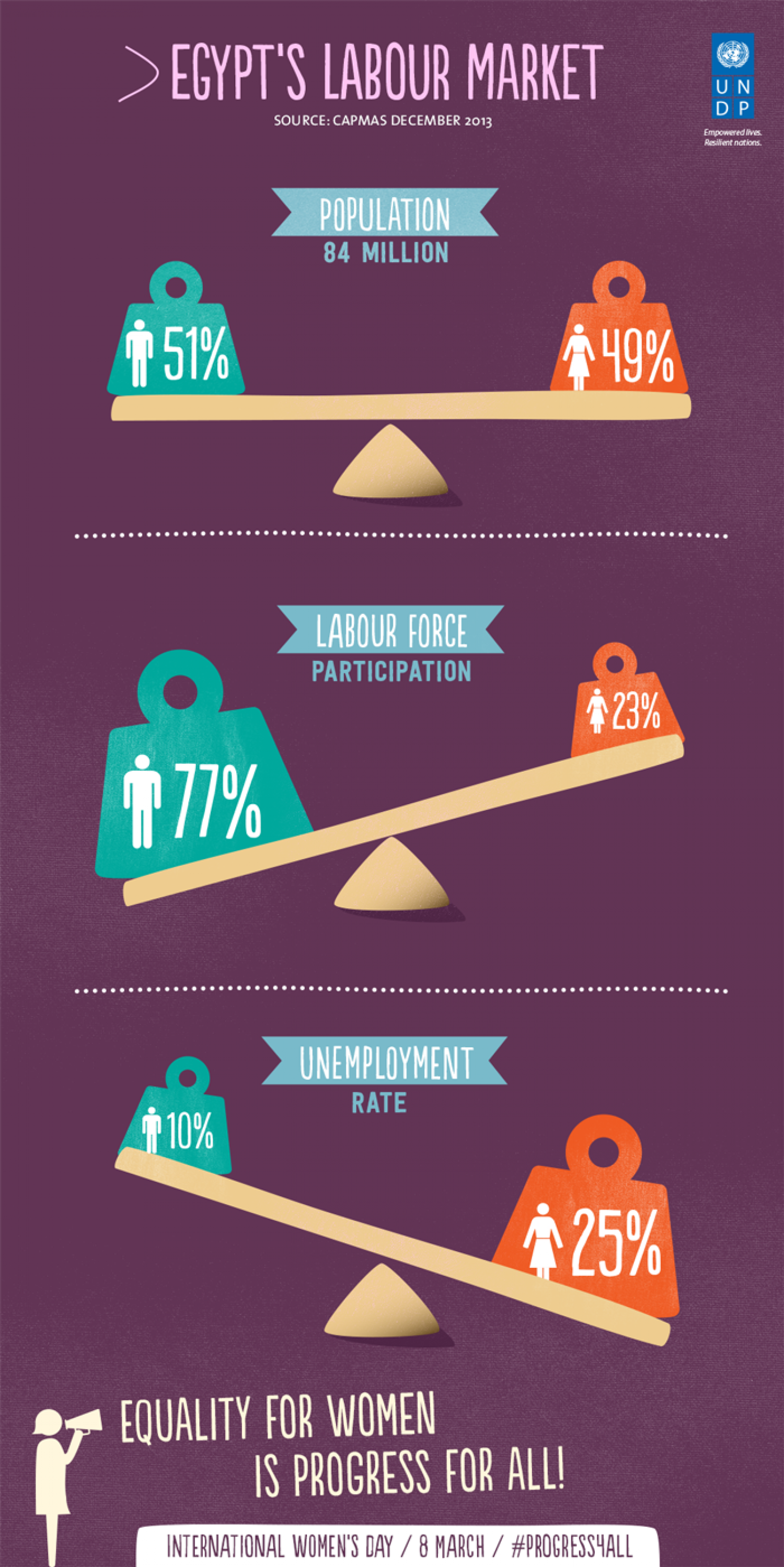 Egypt's labour force: the weight of gender gap Infographic