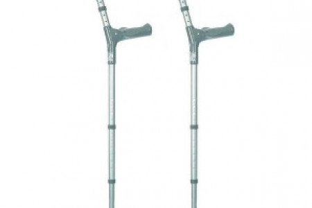 Elbow Crutches With Comfy Handles Infographic