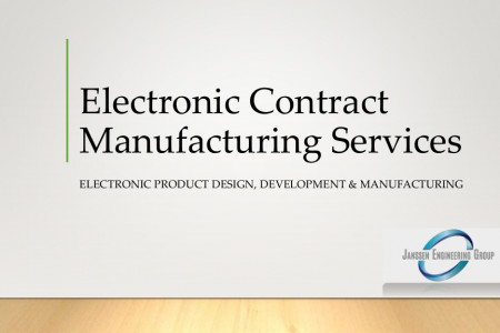 Electronic Contract Manufacturing in USA - Janssen Engineering Group Infographic