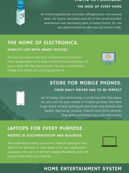 Electronics and Home Appliances Store in UAE Infographic