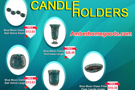 Elegant Blue Moon Candle Holders Infographic