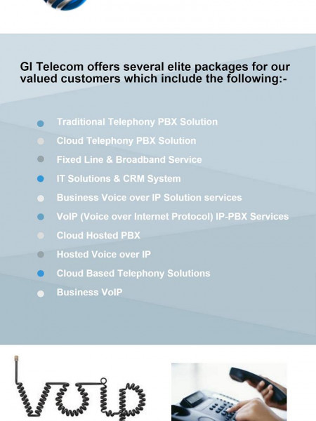Elite Business VOIP Packages Provided by  GI Telecom Infographic