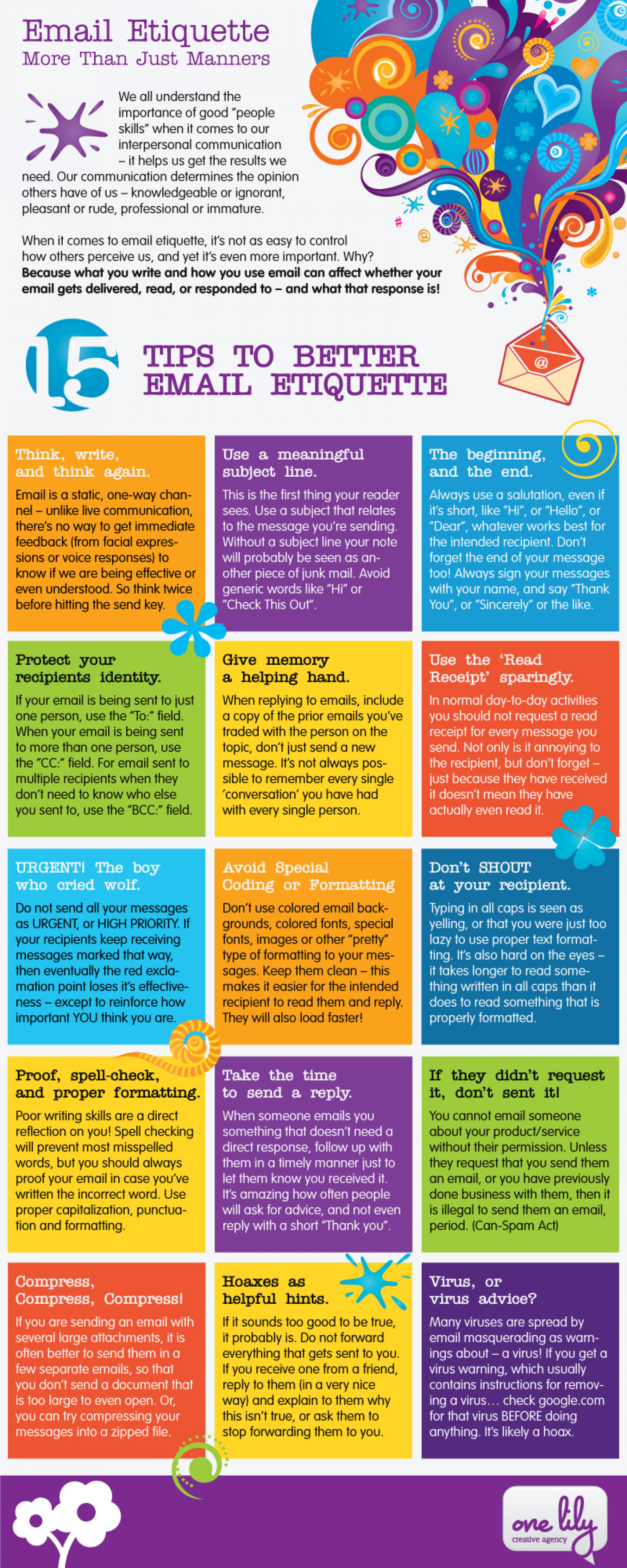 Email Etiquette: More Than Just Manners Infographic