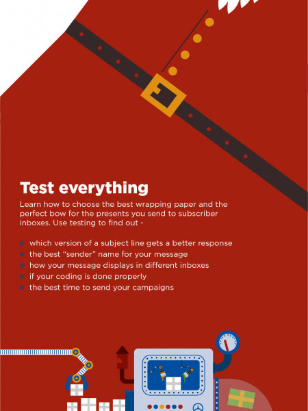 Email marketing tips not only for Christmas Infographic