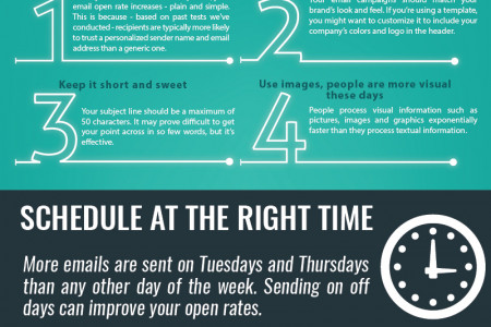 Email Marketing Tips&Tricks Infographic