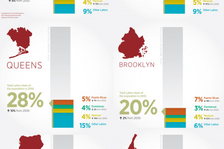 Emerging, Evolving: NYC's Changing Latino Population  Infographic