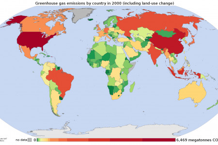 Emissions of Green House Gases by Country Infographic