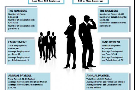 Employment: Small versus Big Business Infographic