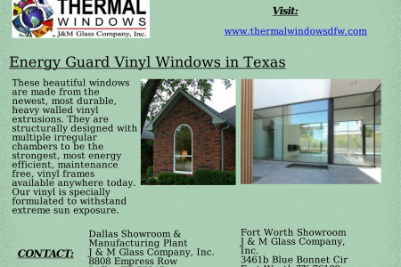 Energy Guard Vinyl Windows in Texas Infographic