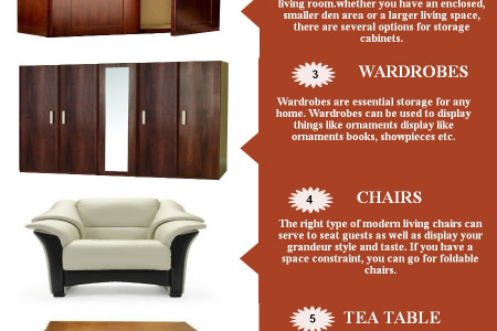 Enhancing Living Room Through Furniture Infographic