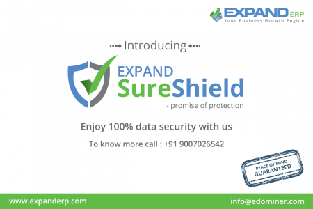 Enjoy 100% data security with EXPAND ERP. Infographic