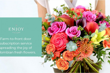Enjoy Flowers: Subscription for Monthly Flowers Delivery Infographic
