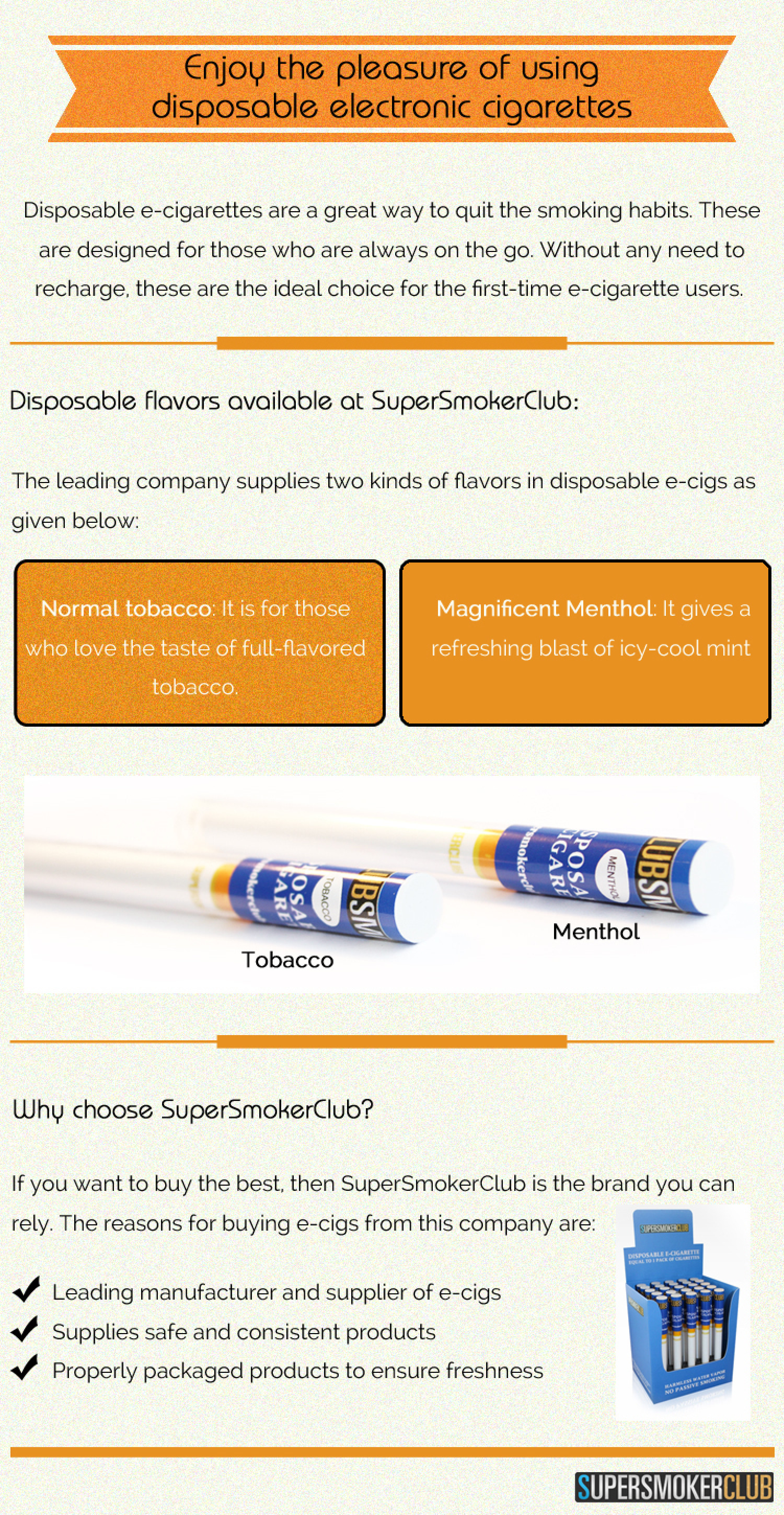 Enjoy the pleasure of using disposable electronic cigarettes Infographic