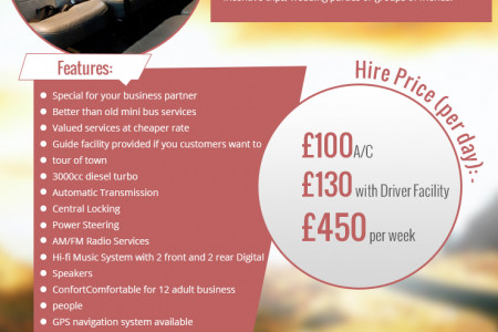 Enjoy Your Ride by Hiring Different Types of Stylish Minibus Infographic
