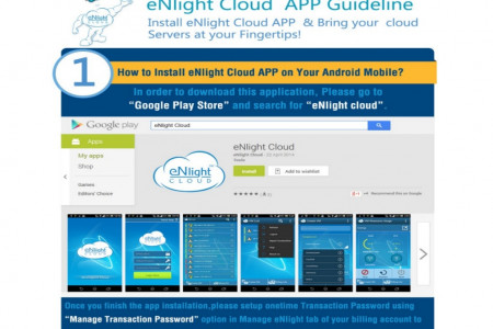 eNlight Cloud App To Manage Cloud Hosting Servers Infographic