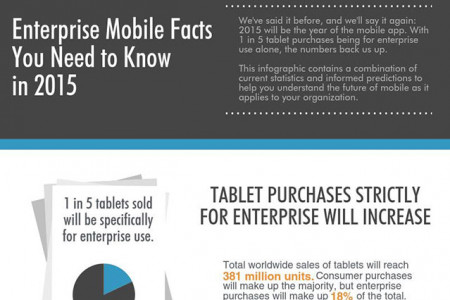 Enterprise Mobile Facts You Need to Know in 2015 Infographic