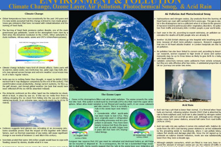 Environment & Pollution Infographic