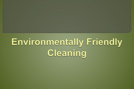 Environmentally Friendly Cleaning Infographic