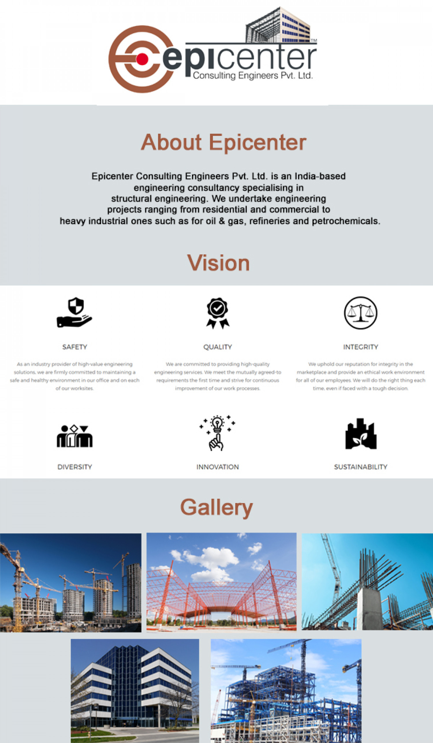 EPICENTER CONSULTANT ENGINEERS PVT LTD - epicenter Infographic