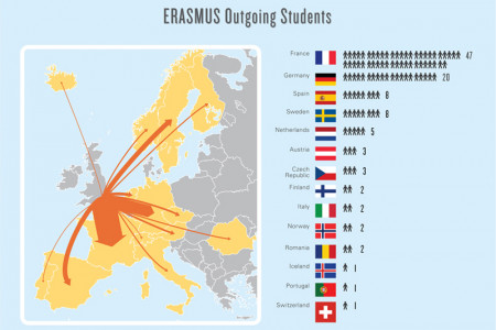 ERASMUS and International Student Sources Diagrams Infographic