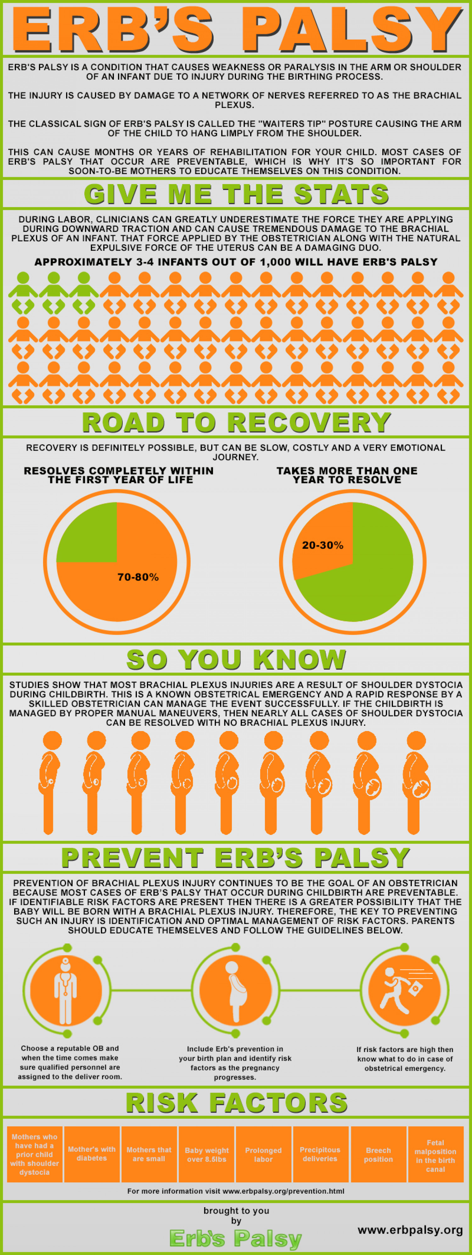 Erb's Palsy - An Overview and Parents Guide to Prevention Infographic