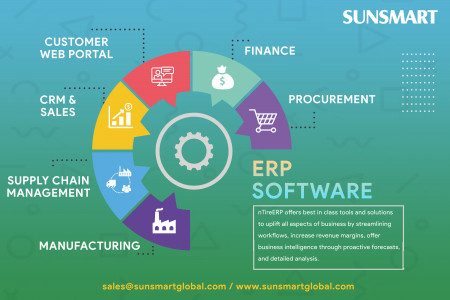 ERP Software - Best in Industry Solutions Infographic