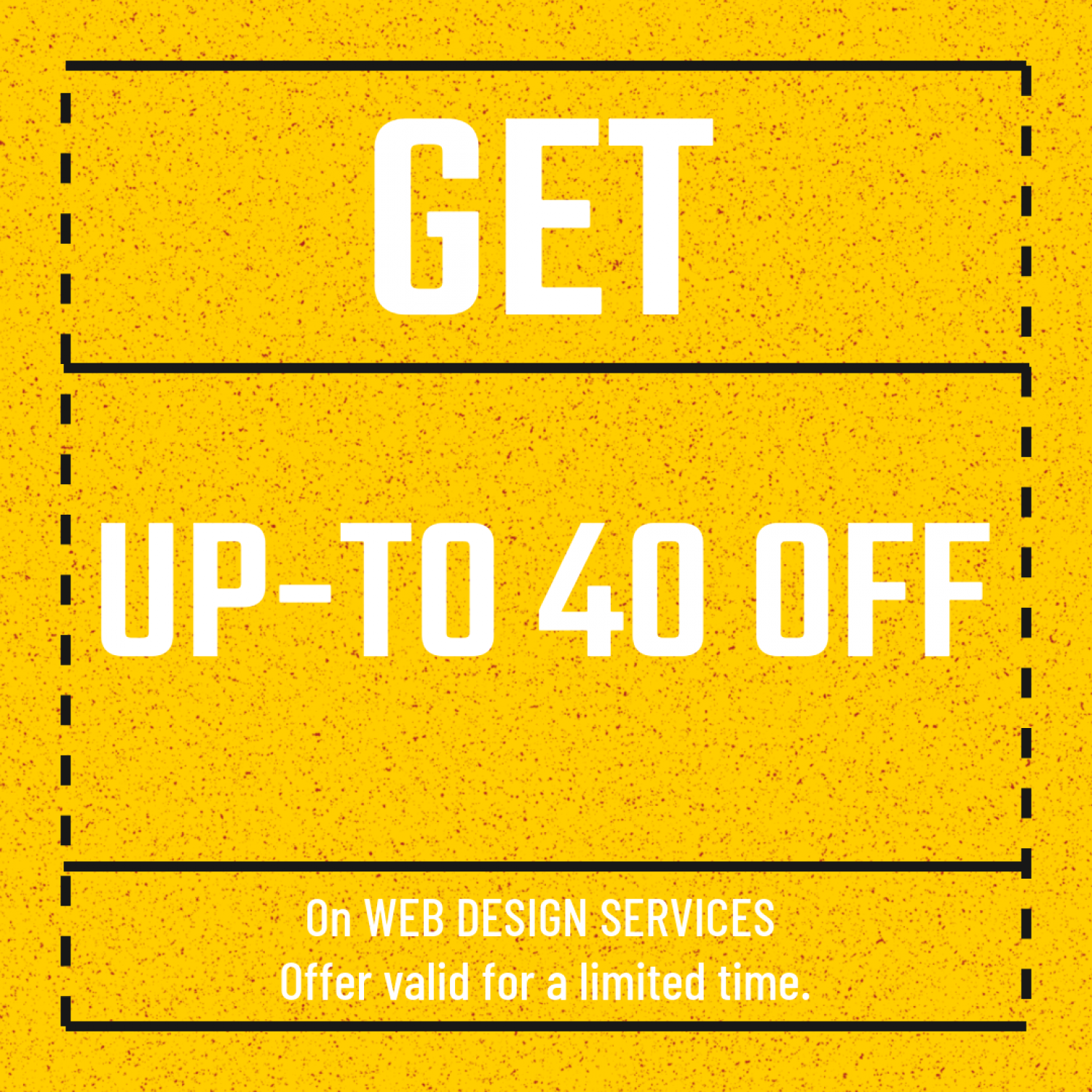 ESG is offering upto 40% off on web designing and development services Infographic